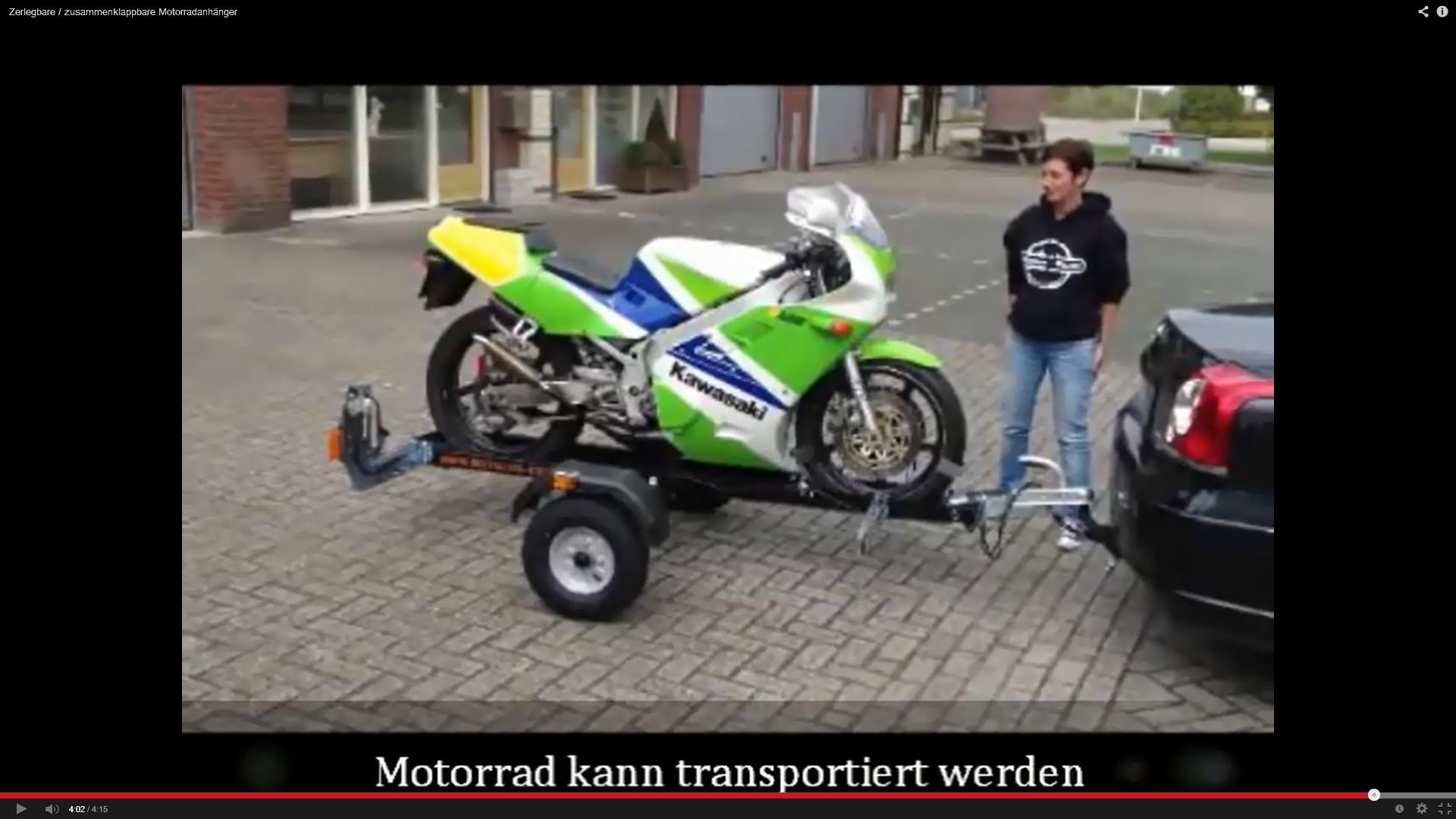 Video Motolug Motorradanhänger